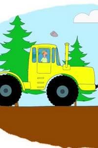 Мультик-раскраска про трактор